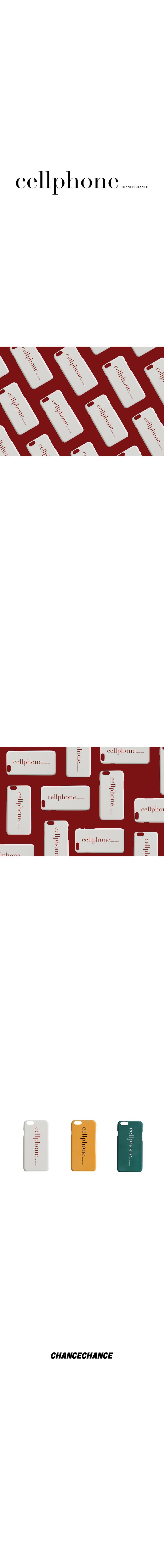 챈스챈스(CHANCECHANCE) Cellphonecase(White)