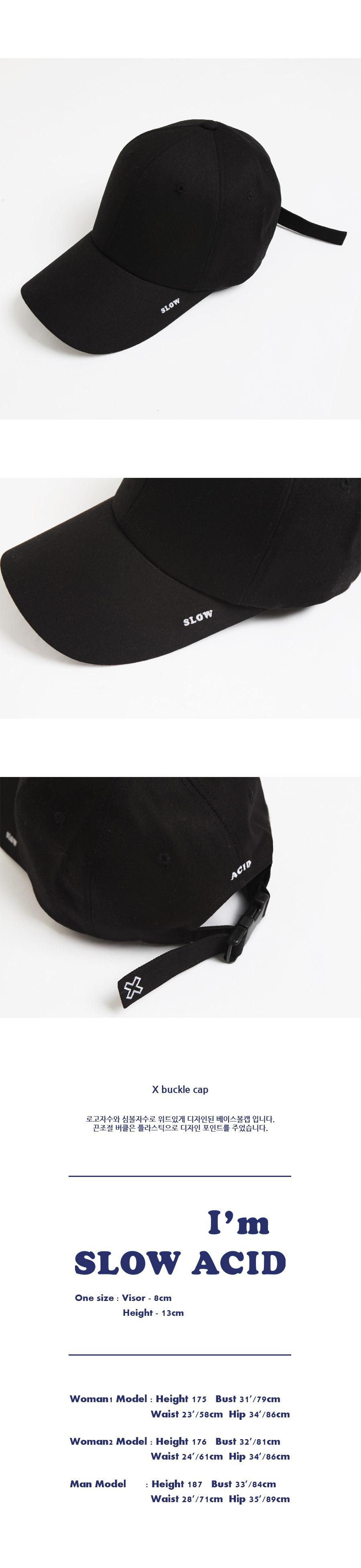 슬로우애시드(SLOW ACID) [UNISEX] X 버클캡 (black)