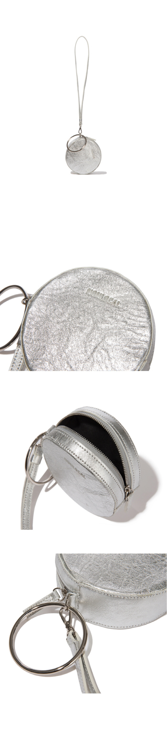 논로컬(NONLOCAL) Ring Ring Bag-Shilver