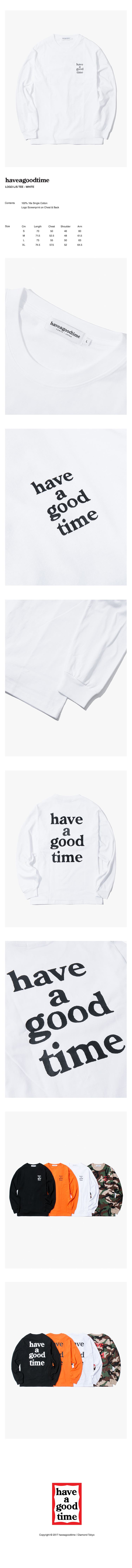 해브 어 굿 타임(HAVE A GOOD TIME) Logo L/S T-Shirt - White