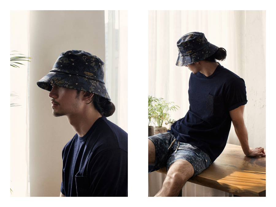 디아프바인(DIAFVINE) DV. LOT472 WIDE BRIM BUCKET HAT -PALM TREE-