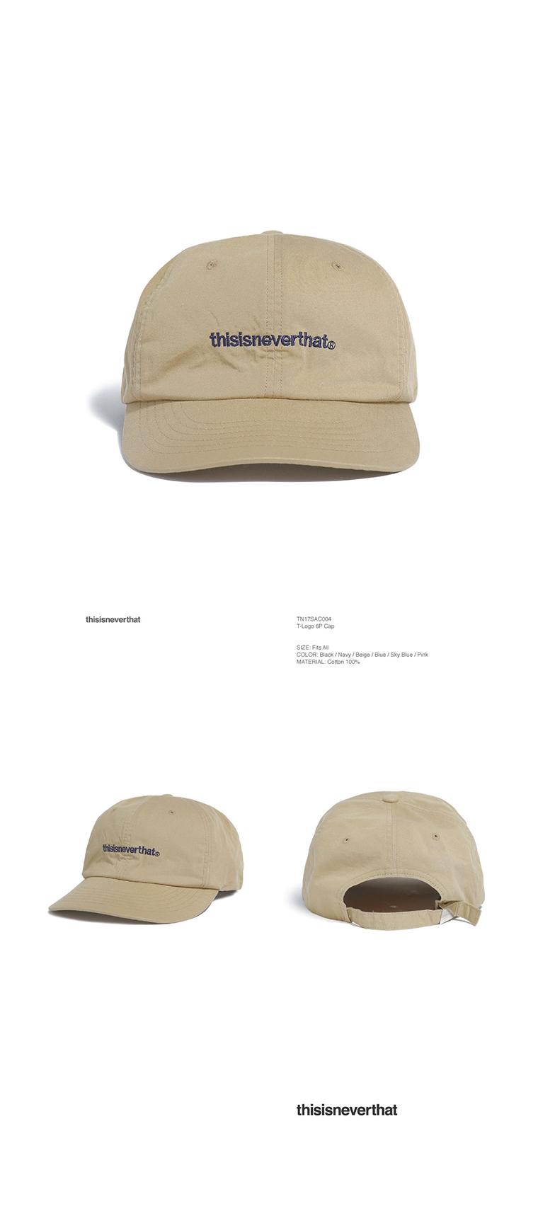 디스이즈네버댓(THISISNEVERTHAT) T-Logo 6P Cap Beige