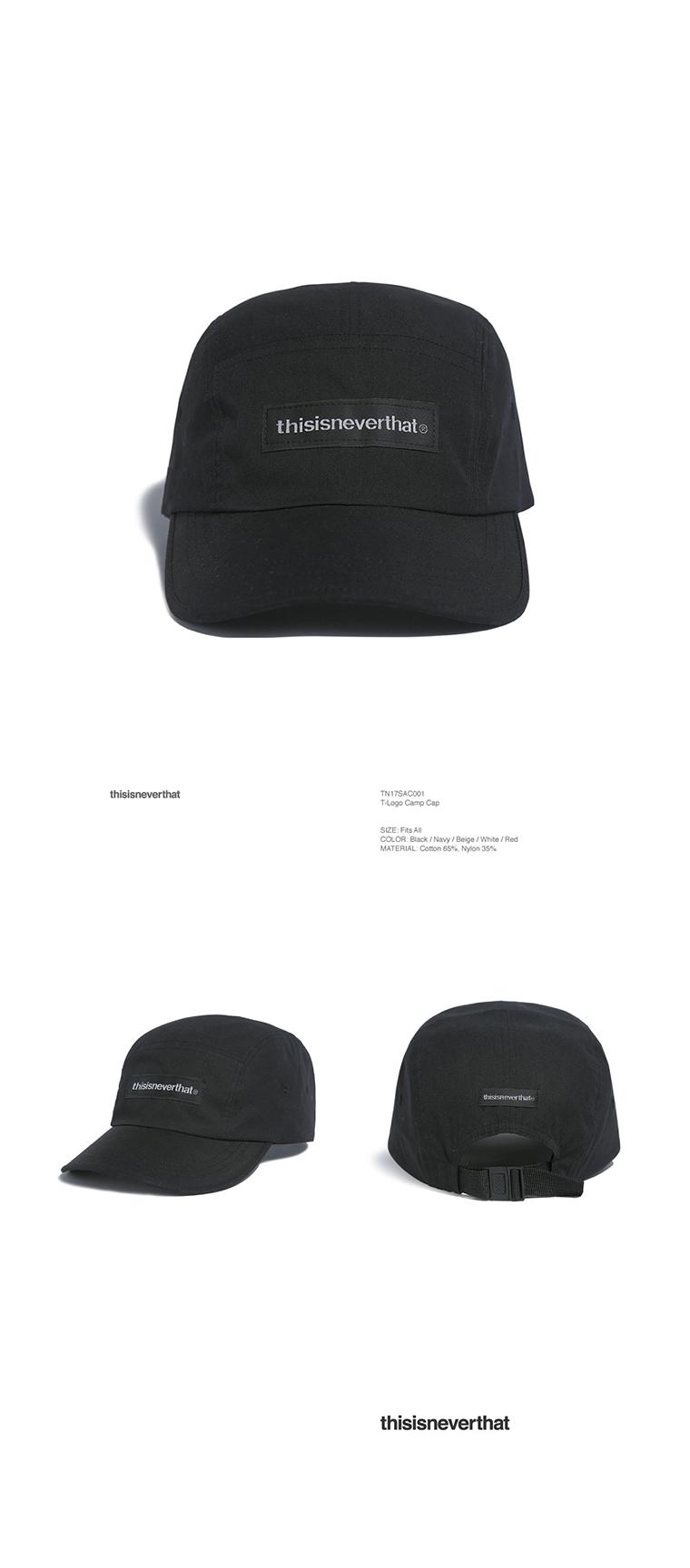 디스이즈네버댓(THISISNEVERTHAT) T-Logo Camp Cap Black