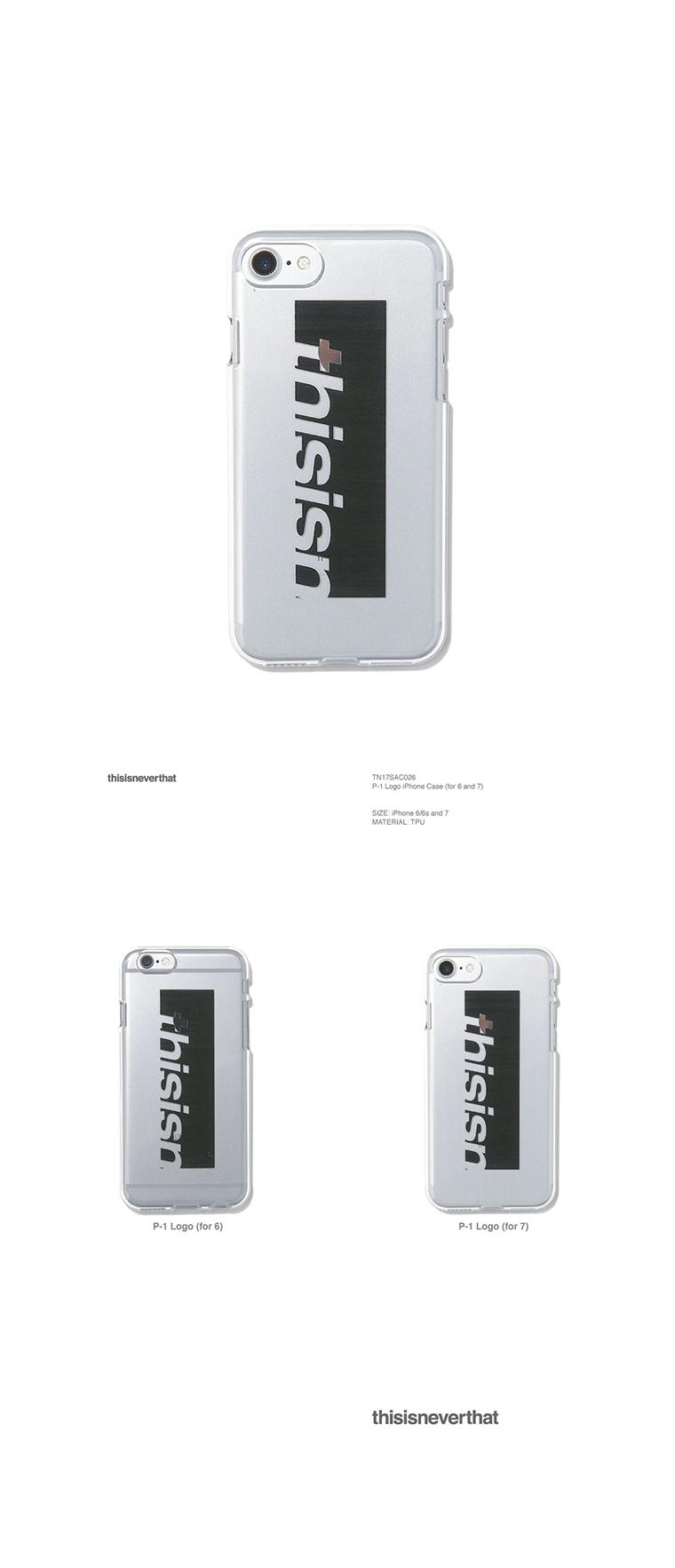 디스이즈네버댓(THISISNEVERTHAT) P-1 Logo iPhone Case 6/6s