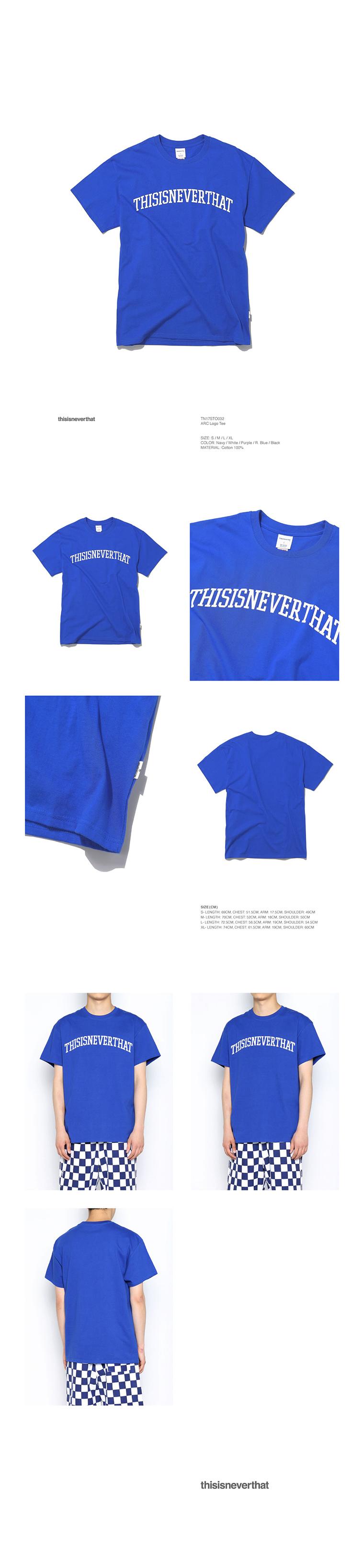 디스이즈네버댓(THISISNEVERTHAT) ARC Logo Tee R.Blue
