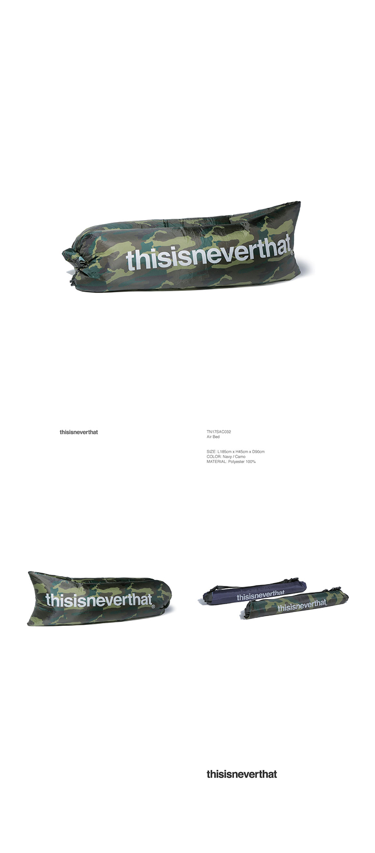디스이즈네버댓(THISISNEVERTHAT) Air Bed Camo