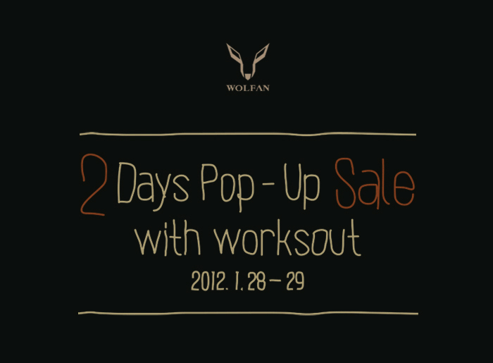 2 Days Pop-Up Sale With WORKSOUT