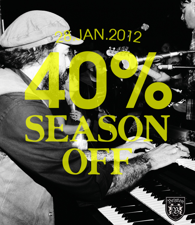 BRIXTON 40% SEASON OFF SALE