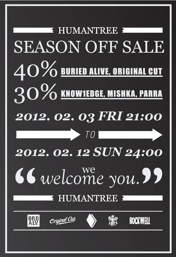 HUMANTREE SEASON OFF SALE