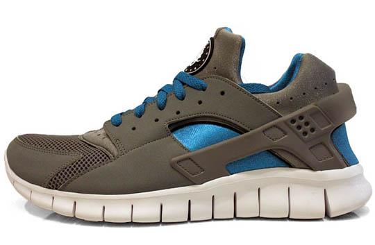Nike Huarache Free – Stealth Grey / Blue