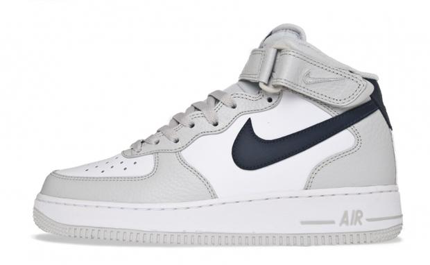 Nike AF1 Mid Neutral GreyObsidian-WHT