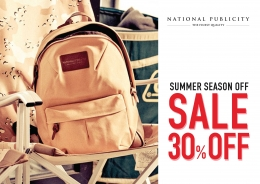 National Publicity 30% season off sale 안내 및 bracelet 입고소식