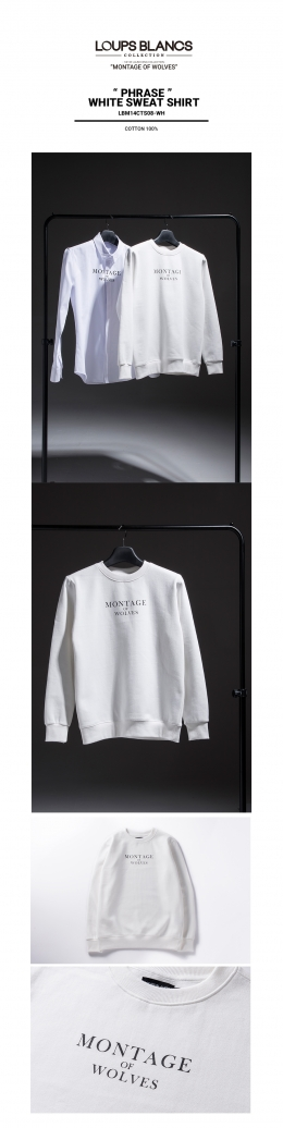 루블랑(Loups Blancs) 신상품 Phrase White Sweat Shirt 발매