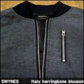 스와인즈 블루종 자켓 (SWYNES Italy herringbone blouson),