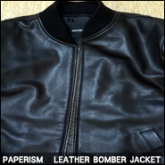 페이퍼리즘 봄버가죽자켓(PAPERISM REAL LEATHER BOMBER JACKET),