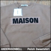 앤더슨밸 맨투맨 스웻셔츠(ANNDERSSONBELL Patch Sweatshirt Camel MAN)