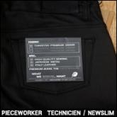 피스워커 블랙 코팅데님(PIECE WORKER TECHNICIEN / NEWSLIM )