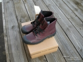Palladium pampa high leather burgundy