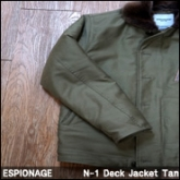 에스피오나지 덱 자켓 (ESPIONAGE Trenton N-1 Deck Jacket Tan),
