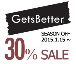 GetsBetter 시즌오프 30% SALE을 하고 있습니다.