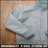 브라운브레스 스타디움 자켓 (BROWNBREATH B WOOL STADIUM JKT_GREY),