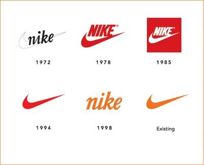 나이키 로고의 변화