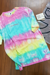 어낫띵(A NOTHING) TIE-DYE DROP-SHOULDER 1/2 TEE (Pink) 후기