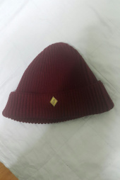 밀리어네어햇(MILLIONAIRE HATS) (cotton) watch cap [WINE] 후기