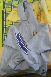 로맨틱크라운(ROMANTIC CROWN) Ceremony Tape Wide hoodie_GRAY 후기