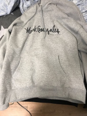 마크 곤잘레스(MARK GONZALES) MARK GONZALES SIGN LOGO HOODIE GRAY 후기
