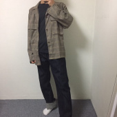 라퍼지스토어(LAFUDGESTORE) (Unisex) Wide Check Trucker Jacket 후기