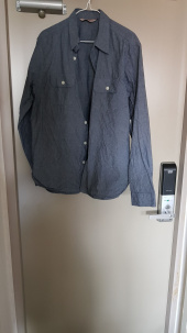 유니폼브릿지(UNIFORM BRIDGE) 18fw chambray shirts grey 후기