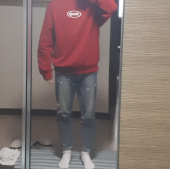 팔칠엠엠서울(87MM_SEOUL) [Mmlg] EMBROIDERY MMLG SWEAT (DEEP RED) 후기