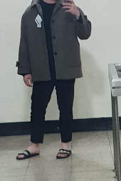 라퍼지스토어(LAFUDGESTORE) Wool Over Half Coat_Hounds tooth Check Brown 후기