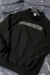 디스이즈네버댓(THISISNEVERTHAT) ARC-Logo S-Collar Sweatshirt Black 후기