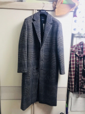 인사일런스(INSILENCE) CHECK LONG COAT (brown check) 후기