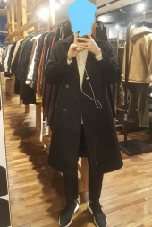 더 티셔츠 뮤지엄(THE T-SHIRT MUSEUM) 18aw oversized double coat [black] 후기