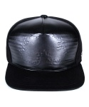 페이퍼코드(PAPERCODE) BIG TREE LEATHER SNAPBACK_BLACK