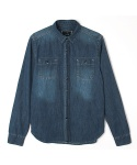 어레인지(ARRANGE) washed denim shirts