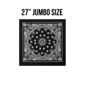 로스코(ROTHCO) 27INCH BIG TRAINMEN BANDANA (BLACK)