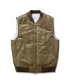 라이풀(liful) MA-1 MIXED VEST khaki