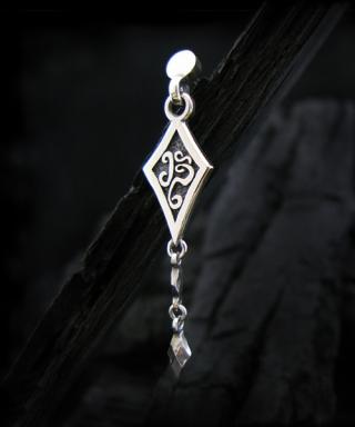 BT DIA-D Sterling Silver Earring