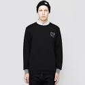 아이러브어글리(I LOVE UGLY) Edo Crew Neck Jersey Black