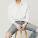 비앙쉬르(BIENSUR) STANDARDE SHIRT WHITE