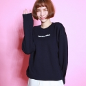 플라시보 이팩트(PLACEBO EFFECT) [플라시보이펙트] BASIC LOGO CREWNECK (MORE NAVY)