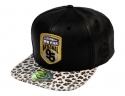 더블에이에이 피티드(DOUBLE AA FITTED) [신상 특가]Faux Leather animal NATIONAL95 Logo cap
