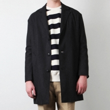 DROP SINGLE LONG COAT / CH