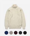 [인기 재입고] ARAN ROLL NECK POLO SWEATER (6color)