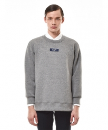 APPLIQUED COTTON-BLEND JERSEY SWEATSHIRT (GREY)