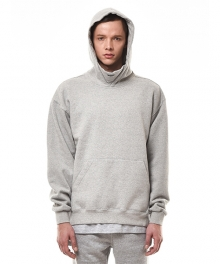 PRINTED FLEECE-BACK COTTON-JERSEY HOODIE (GREY)
